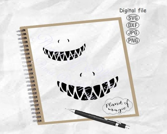 Shark Teeth Svg, Teeth Svg, Halloween Face Mask Svg, Shark Svg, Funny Mask Svg, Mask Design Svg, Shark Face Svg