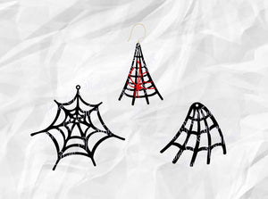 Spiderweb Earrings Svg, Earrings SVG, Halloween Earrings SVG