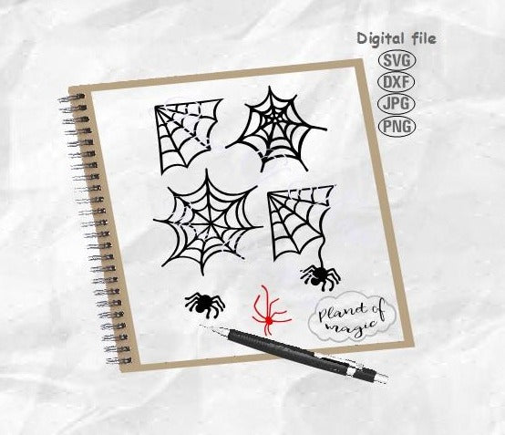 Spiderweb Svg, Halloween Svg, Spider Svg, Spiderweb Bundle Svg