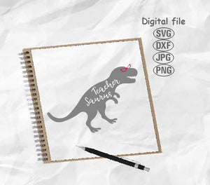 Teacher Saurus Svg, Teacher Svg, Back To School Svg, Teachersaurus Svg