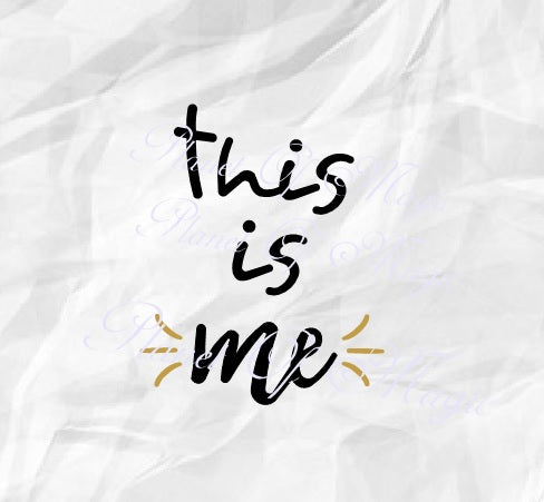 This Is Me Svg, New Baby Svg, Baby Quote Svg, Baby Cut File