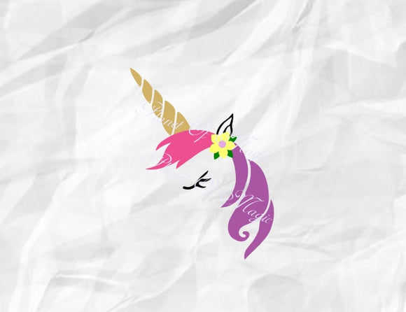 Unicorn Svg, Unicorn Head Svg, Unicorn Face Svg, Unicorn Dxf