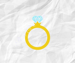 Ring Svg, Wedding Ring Svg, Engagement Ring Svg, Diamond Ring Svg