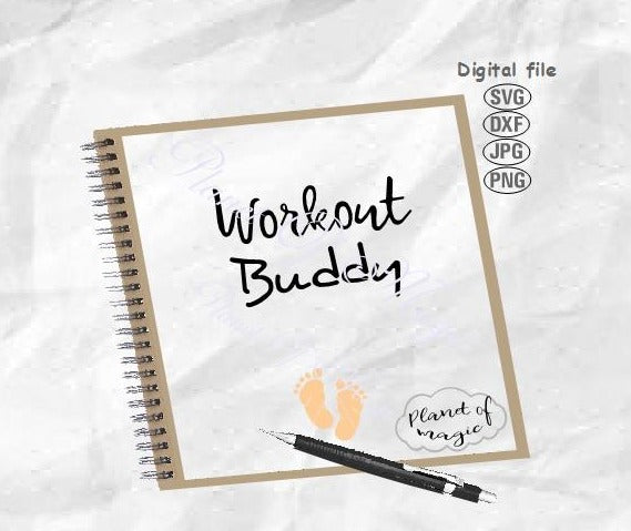Workout Buddy Svg, Maternity Workout Svg, Workout Mom Svg,Pregnancy Workout Svg, Pregnancy Svg, Maternity Svg