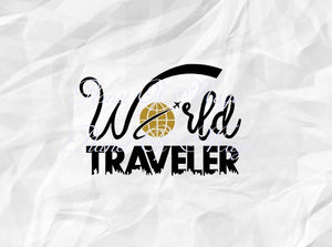 World Traveler Svg, Vacation Svg