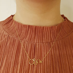 BUBBLE Necklace, goldplated