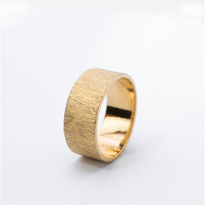 CONTRAST ring, goldplated