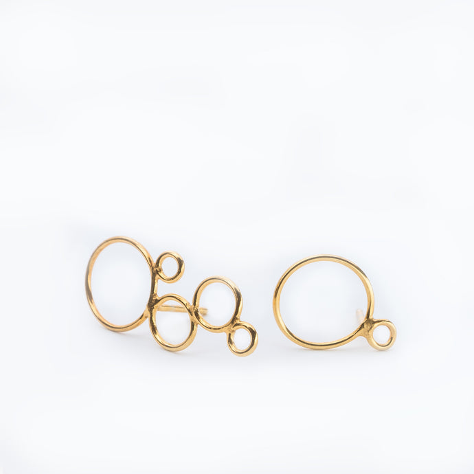 BUBBLE earring, goldplated