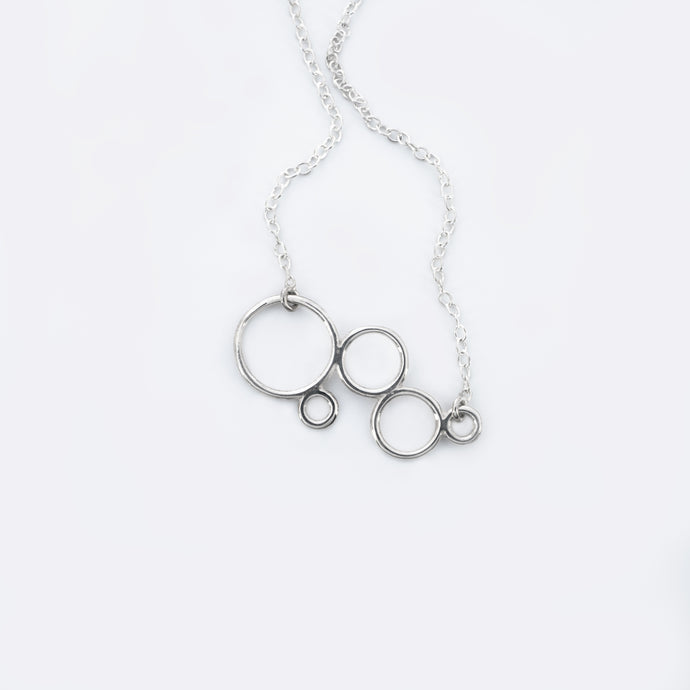 BUBBLE Necklace, silver