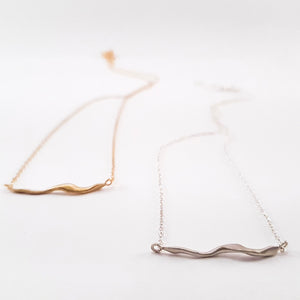 SWIRL necklace, goldplated