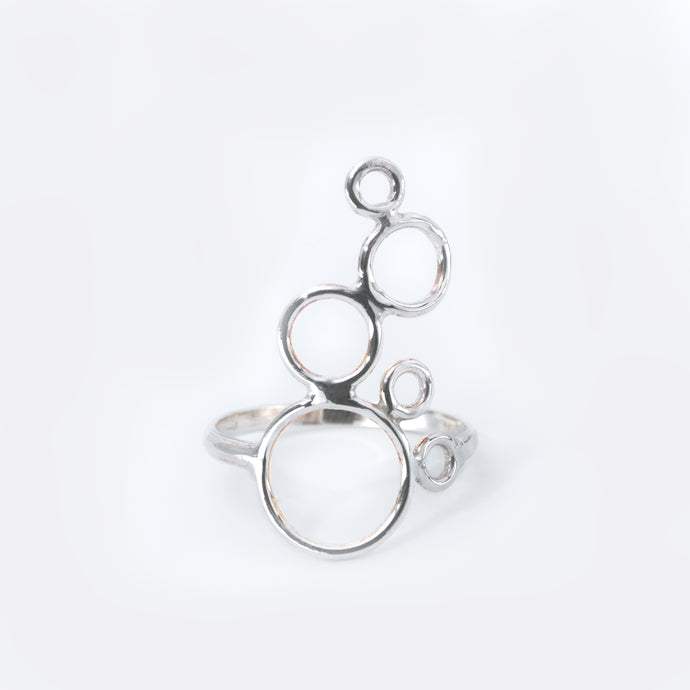 BUBBLE ring, silver