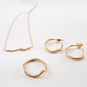 SWIRL hoop earrings, goldplated