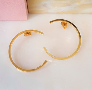 MOON BIG earring, goldplated