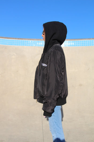 Black Hooded Bomber