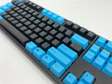 "Tai Hao ""Black & Blue"" Doubleshot ABS 104 Cherry MX Keycap Set - C01BK202"