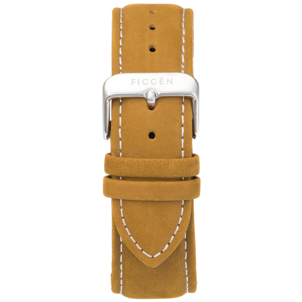 Genuine Suede Leather Tan Strap