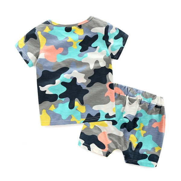 Boys Camo Short Set