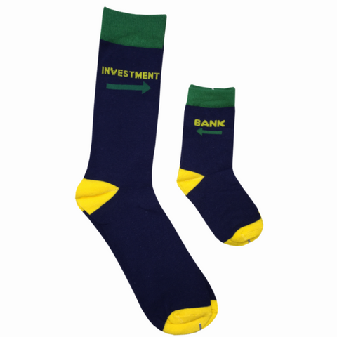"""Investment Bank"" Daddy & Me Socks"