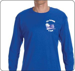 The Struggle is Real Clothing Blue Long Sleeve T-shirt with The Struggle is Real silk screened Logo