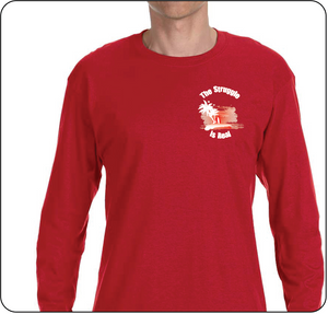 The Struggle is Real Clothing Red Long Sleeve T-shirt with The Struggle is Real silk screened Logo