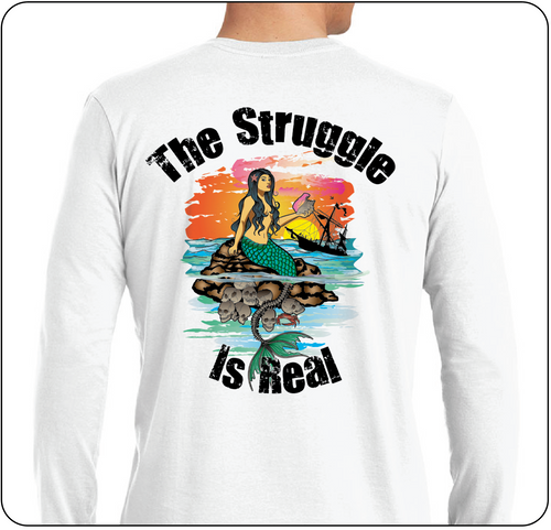 The Struggle is Real Clothing Mermaid UPF 50 long sleeve shirt