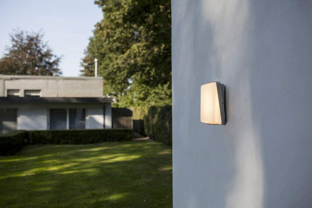 CGC Outdoor Slim LED Wall Light Aluminium Body with Opal Diffuser Warm White 3000k Ideal for Garden Porch Patio