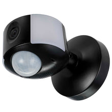Black Compact CCTV Camera, Motion Sensor & LED Wall Light With App Control