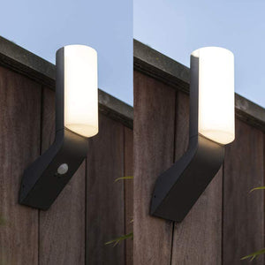Grey Slim LED Outdoor Wall Light - Choice Of Style