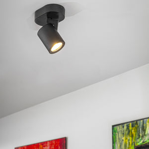 Black Or White Modern Cylinder Spotlights - Comes In Three Sizing Options