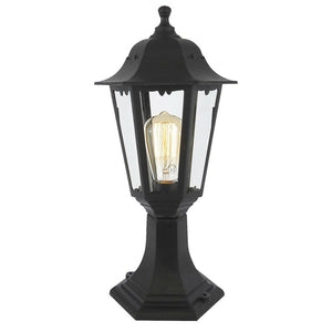 Black Small Post Vintage Style Lantern Light