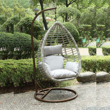 Luxury Large Grey Hand Weaved Rattan Swing Egg Chair - Choice of Cushions