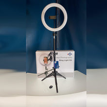 "10"" Inch LED Ring Light With Tripod, Phone Holder And Remote"