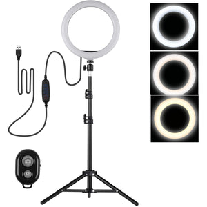 "10"" Inch LED Ring Light With Tripod And Remote"