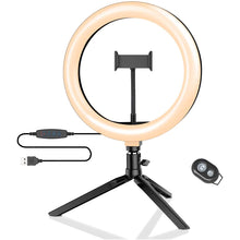"10"" Inch Ring Light With Tripod And Remote"