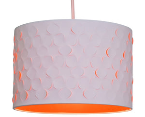 Clover Flower Cream Cut Out Fabric Ceiling / Table Light Pendant Lamp Shade