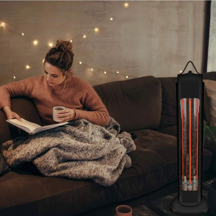 Black Free Standing Oscillating Cold Weather Heater