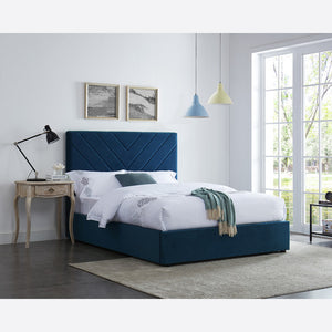 Islington Double & King Size Bed Range - Blue, Orange, Green Colours