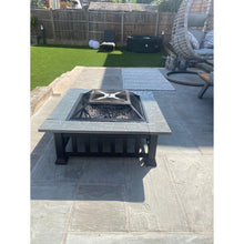 Large Luxury Square Fire Pit / Patio Heater / BBQ / Ice Box