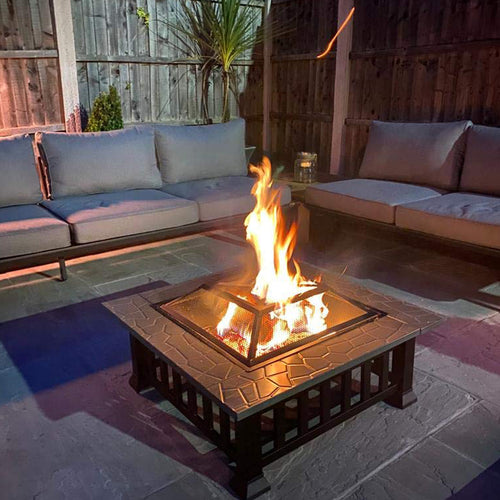 Large Luxury Square Fire Pit / Patio Heater / BBQ / Ice Box - WE'VE HAD CANCELLATIONS! MORE FIREPITS FOR PRE-ORDER!