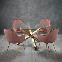 Plush Velvet Dining Chairs and Table