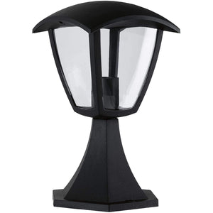 Black Outdoor Short Post Coach Lantern Light