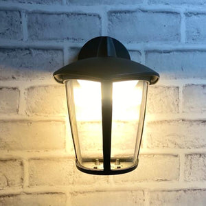 Black LED Pyramid Shaped Wall Lantern Light