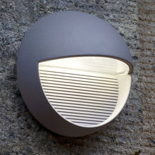 Dark Grey Round Eyelid Wall Light