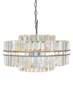 Beautiful Large Round Crystal Glass Chandelier