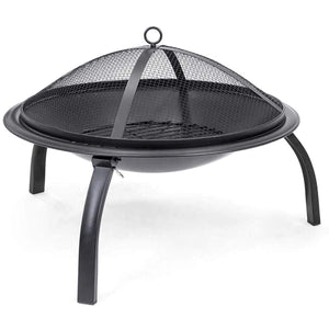 Medium Round Foldable Fire Pit / BBQ / Patio Heater