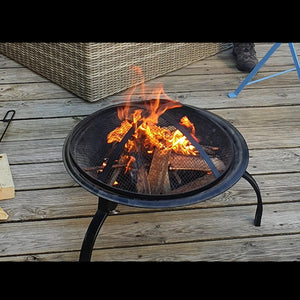 Medium Round Foldable And Portable Fire Pit / BBQ / Camping / Festival