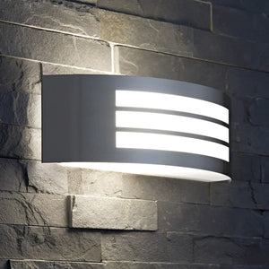 Curved Arc Outdoor Wall Light - Choice Of Colours