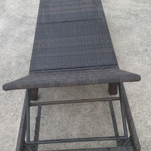 New For 2021!!!!! Rattan Sun Lounger With Full Length Cushion