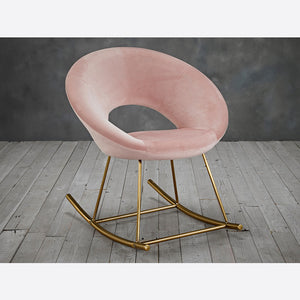 Stella Rocking Chair Blush & Gold