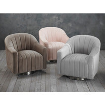 CGC Plush Velvet Occasional Swivel Chair